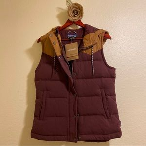 NWT Patagonia Bivy Hooded Down Vest Women's size M